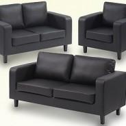 Budget sofa set Black