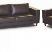 Budget sofa set Brown