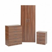 Budget wardrobe set walnut