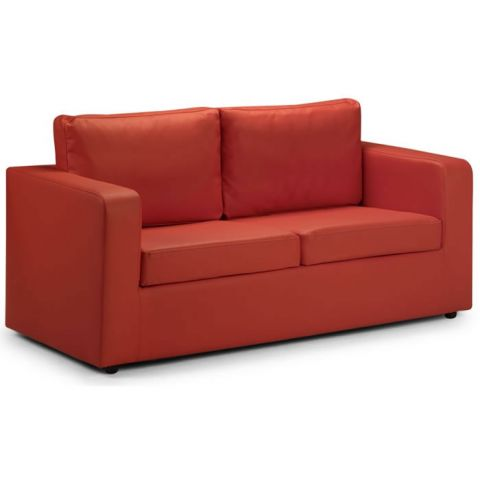 Two Seater Sofa Bed Red 1