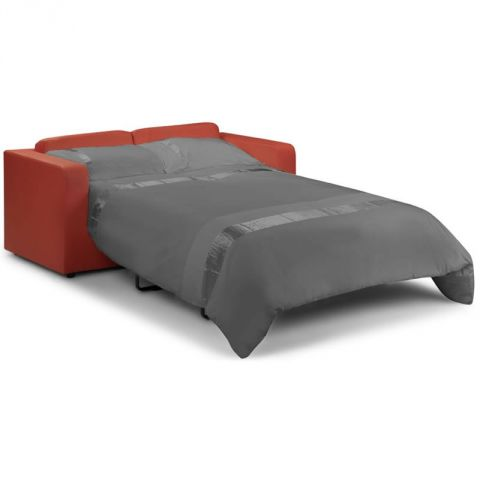 Two Seater Sofa Bed Red 2