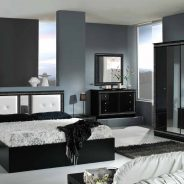 Italian Versace Style Bedroom (with 4 door wardrobe)
