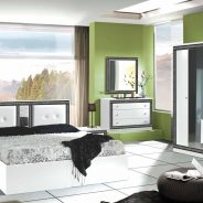 Italian Versace Style Bedroom (with sliding wardrobe)