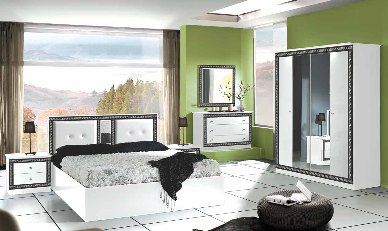 Italian Versace Style Bedroom (with sliding wardrobe) | Ready 2 Drop