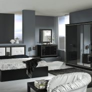 Italian Versace Style Bedroom (with 6 door wardrobe)