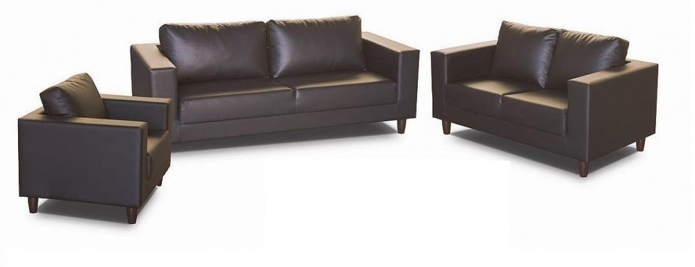 Budget Sofa Set Brown