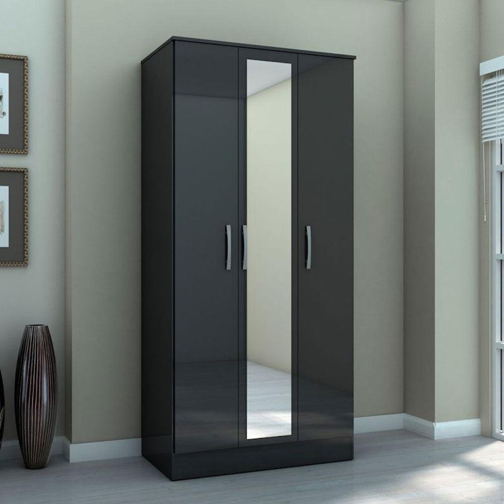 Three Door Wardrobe with Mirror