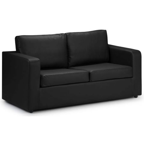Two Seater Sofa Bed Black 1
