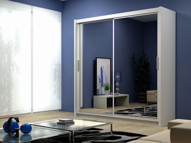 German Sliding Wardrobe with full mirrored doors