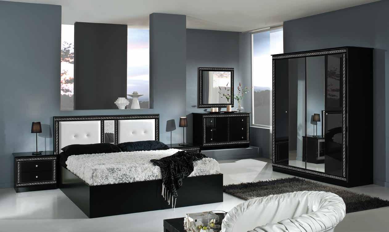 Italian Versace Style Bedroom (with 4 door wardrobe)